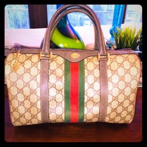 Vintage Gucci monogram doctor bag